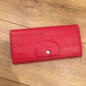 Red Longchamp wallet